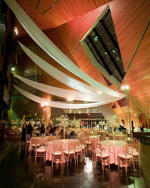 90' tall ceilings and large windows make Memorial Hall events memorable