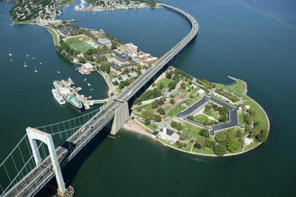 SUNY Maritime College at Fort Schuyler on the Throggs Neck Peninsula