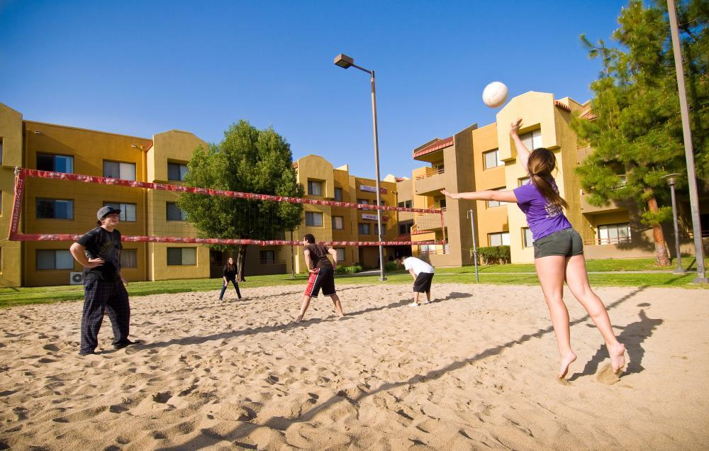 Outside Sand Volleyball Court