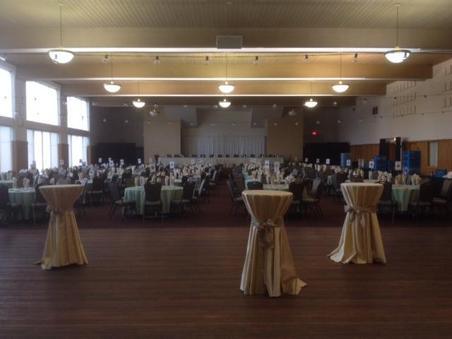Perfect for conference plenaries or wedding receptions