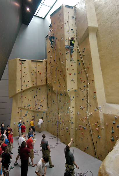 ...for fun team-building activities in the Leed-certified, 200,000 sq. ft. center