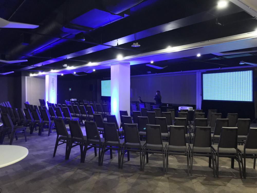 theater seating projection screens breakout rooms Augusta Conference Center