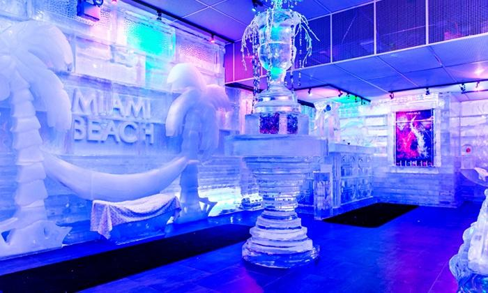 Ice Bar - 100,000 pounds of ice, custom ice sculptures & authentic ice glasses!