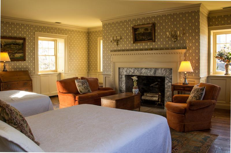 Spend the night in the Burwell Suite in the main manor house