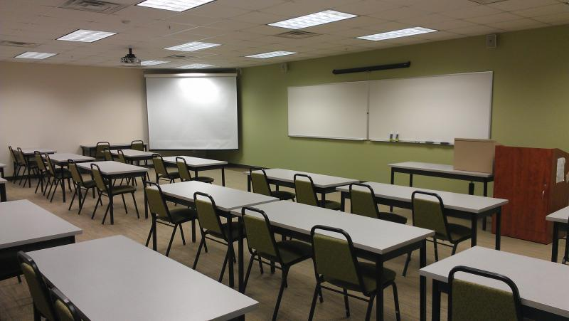 Classrooms equipped with Smart technology are ideal for company training sessions