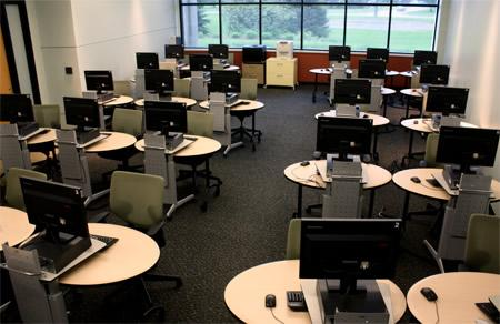 Computer Lab - with instructor station and 24 workstations