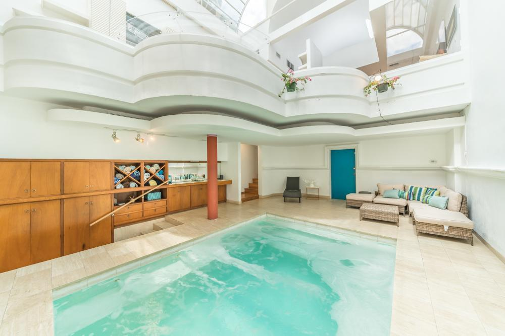 Atrium with Heated Indoor Pool