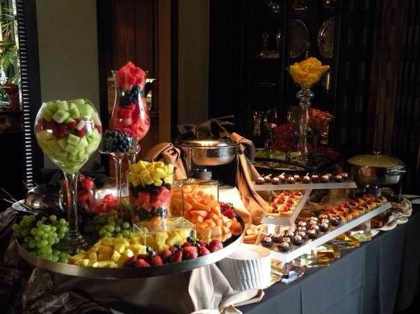 Fruit and Petite Dessert Display