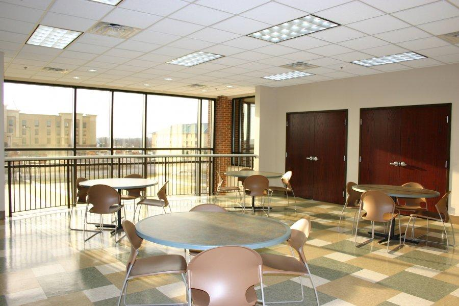 Lounge/vending area for our guests to enjoy or eat lunch.