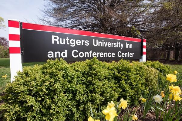 Rutgers University Inn Entrance Sign
