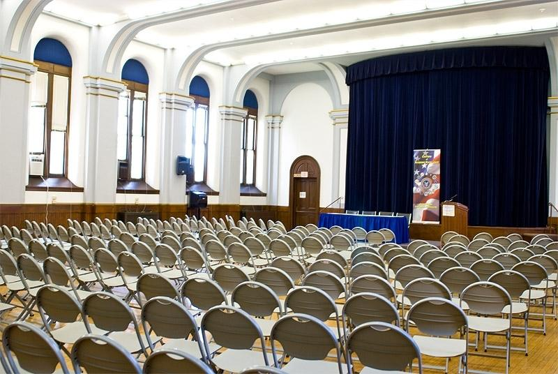 O'Connor Auditorium- classic meeting space with dedicated stage