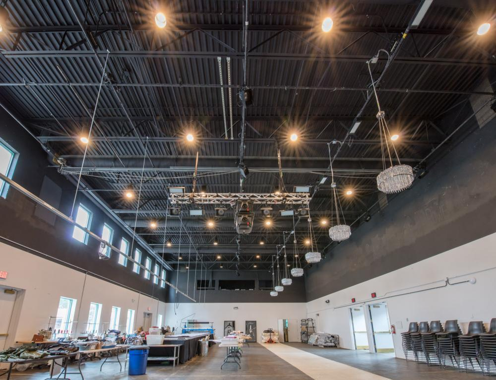 High ceilings, open space provide flexible set-up options