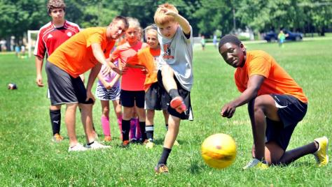 Youth Soccer Camp: AU offers opportunities for both indoor and outdoor camps.