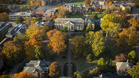 Roanoke College Campus Arial View