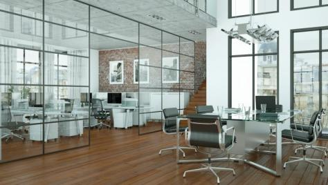 Open workspace with natural light + high tech conference rooms.