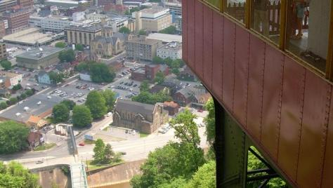 A view of Downtown Johnstown from the world's steepest vehicular incline!