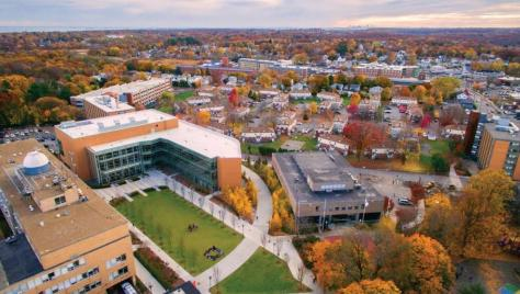 North to Central campus aerial shot