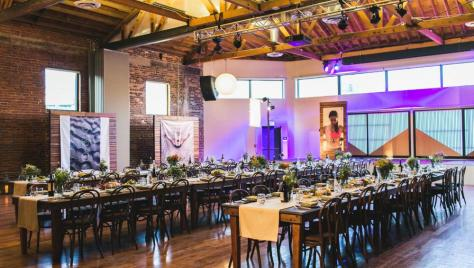 Large Urban Rustic Modern Event Venue Los Angeles Dinner
