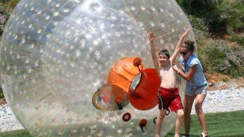 OGO balls - 11' zorbs with an inner chamber for up to 3 riders!