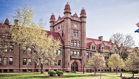 The Iconic Shilling Hall at Millikin University