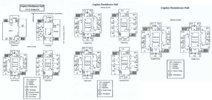 Caples Residence Hall Floorplan