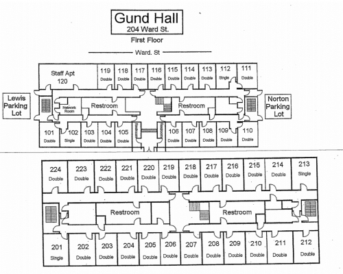 Gund Residence Hall Floorplan