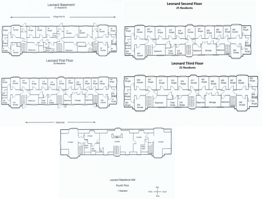 Leonard Residence Hall Floorplan
