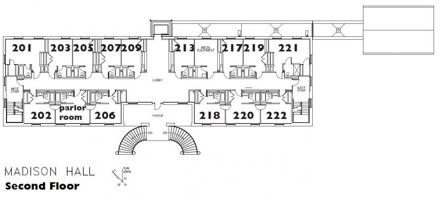 Madison Hall Floor Plan