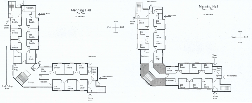 Manning Residence Hall Floorplan