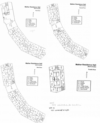 Mather Residence Hall Floorplans
