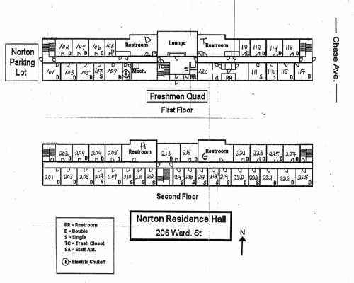 Norton Residence Hall Floorplan