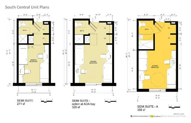 Centennial Hall Room Layouts