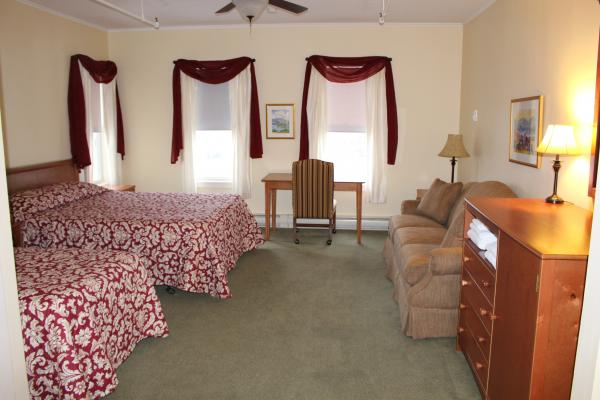 A first floor in room at Silver Bay YMCA