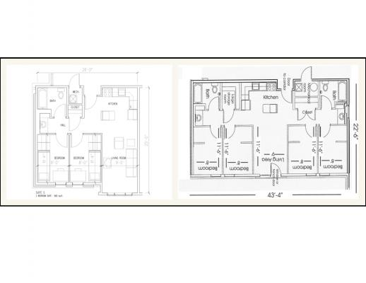 Courtyards Floorplans
