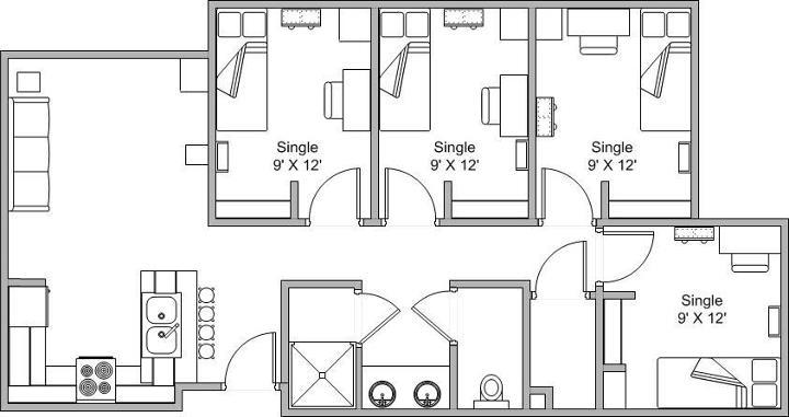 Redondo Village Apartment - Apartment Floorplan