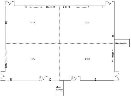 Howard Gittis Student Center Room 217-Base Layout