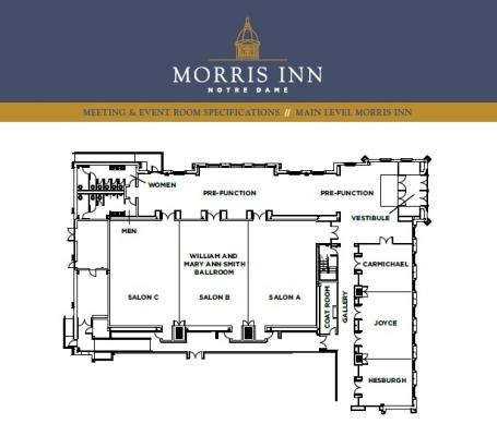 William and Mary Ann Smith Ballroom floorplan