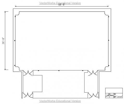 The Black Box Theatre Floor Plan