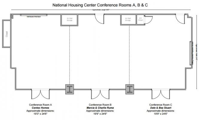 Conference Room A, B and C Floorplan