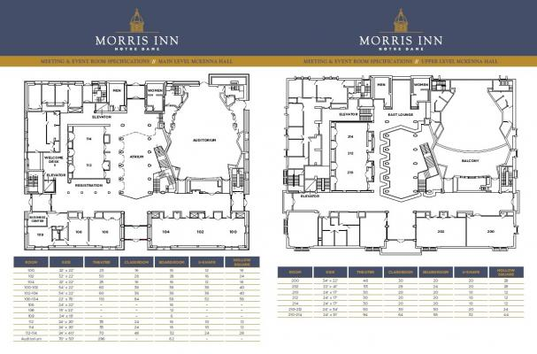 McKenna Hall meeting rooms floorplan