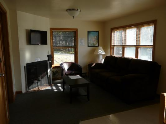 Example of the living room of one of the cabins