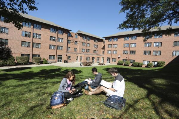 Residence halls, communal bathrooms, traditional style