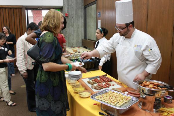Spartan Catering offers private service for all breakfast, lunch or dinner