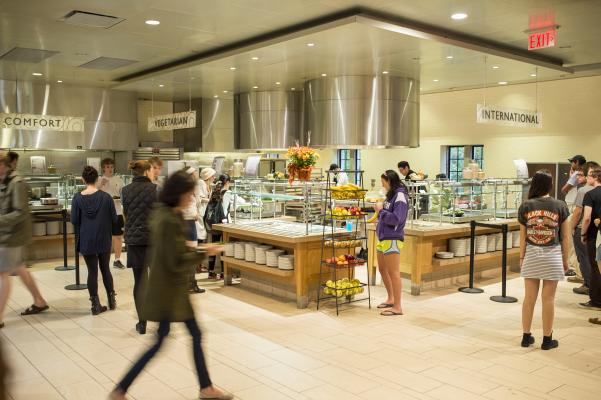 Servery of Peirce Dining Hall