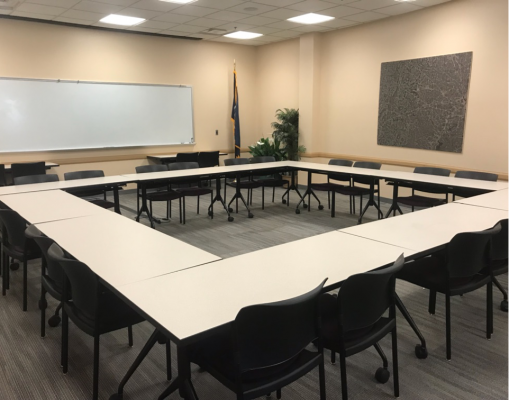 Verizon Auditorium Conference Room 110H - Square Configuration