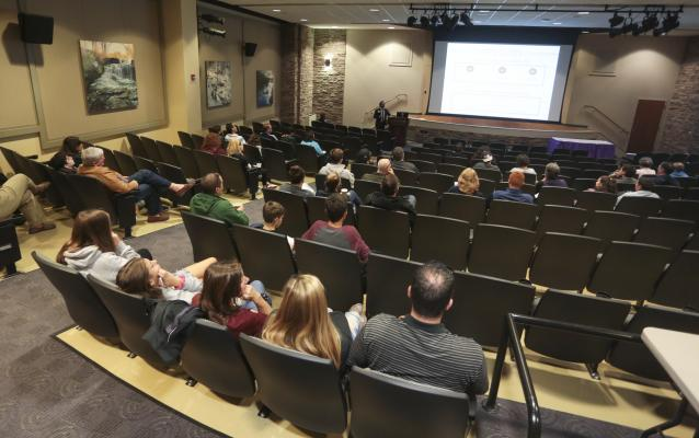 theater, movies, presentations, lectures