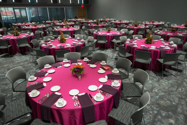 Banquets of up to 350 can be held in the Red Cloud Room