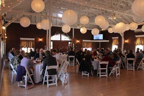 The Carriage House is ideal for elegant dining and/or meeting space
