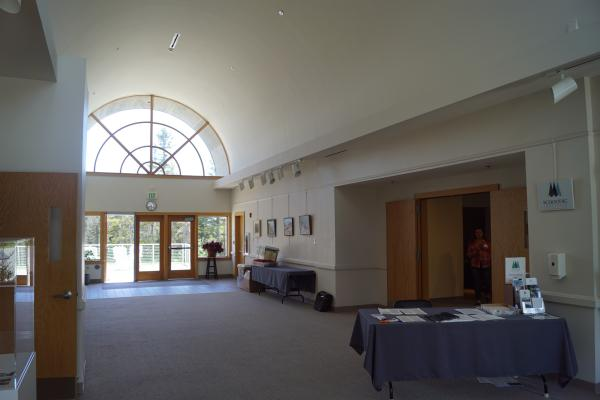 Lobby of Moore Auditorium looking toward the rear of the building