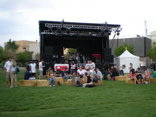 Performance Stage on North Field